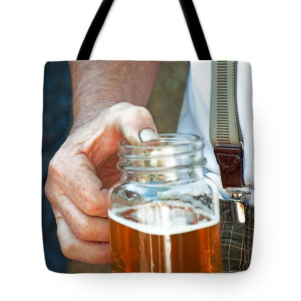 Beer He Drank Tote Bag by Gwyn Newcombe