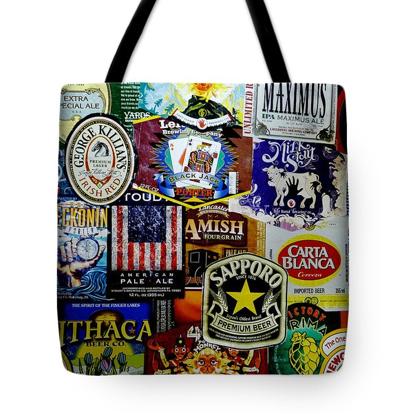 Beer Labels Tote Bag by Richard Reeve