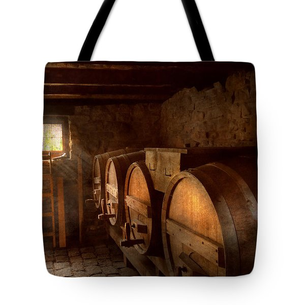 Beer Maker - The Brewmasters Basement Tote Bag by Mike Savad