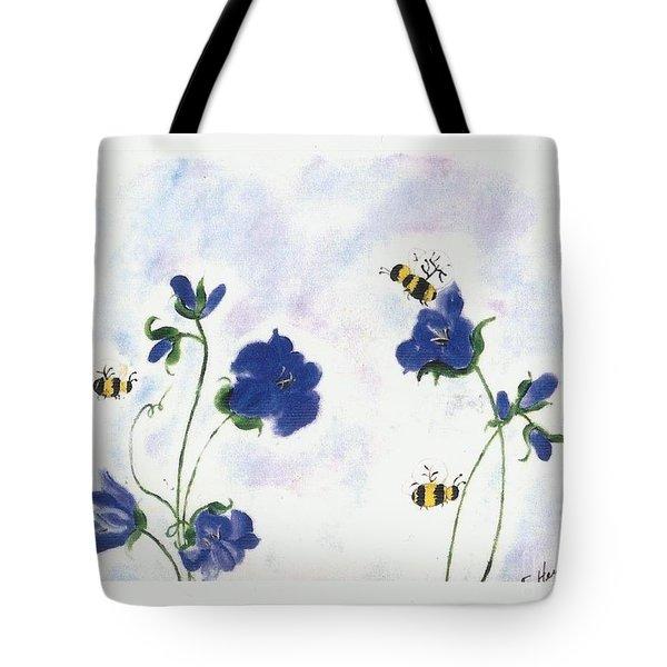 Bees At Lunch Time Tote Bag by Francine Heykoop