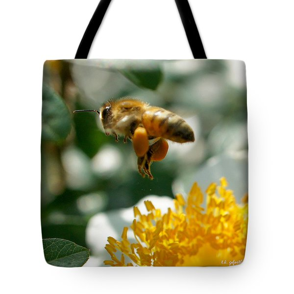 Bee's Feet Squared Tote Bag by TK Goforth