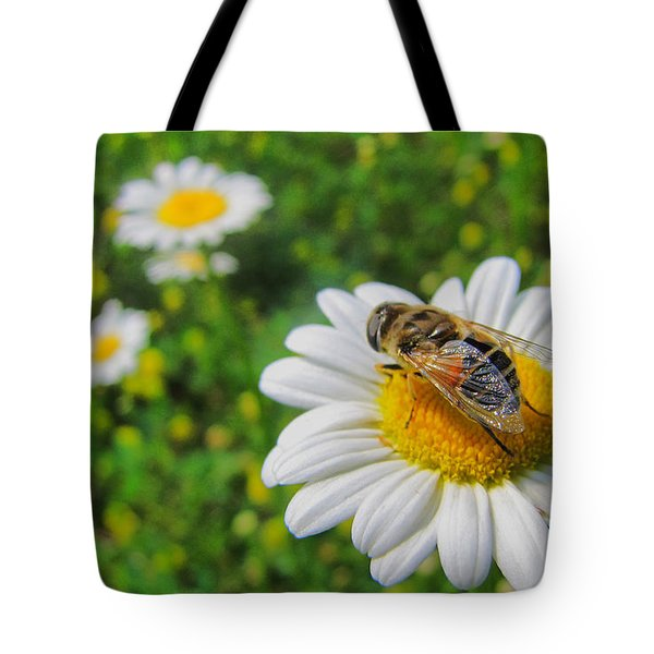 Honey Bee Pollination Services Tote Bag by Maciek Froncisz