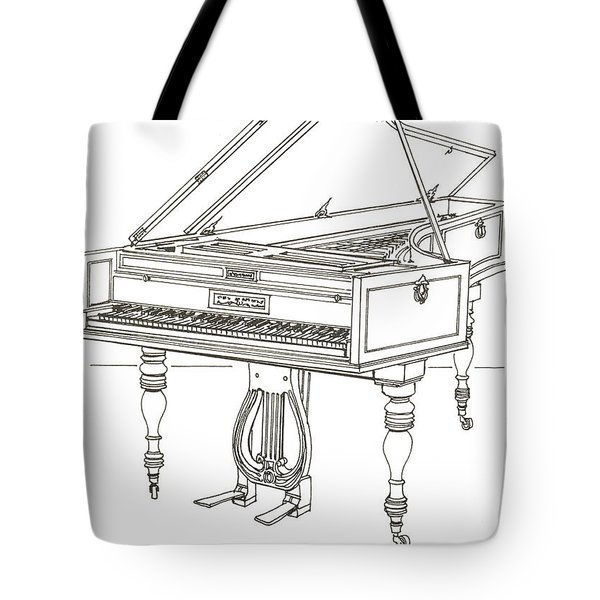 Beethoven's Broadwood Grand  Piano Tote Bag