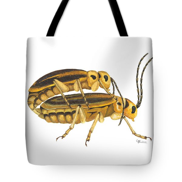 Chrysomelid Beetle Mating Pose Tote Bag