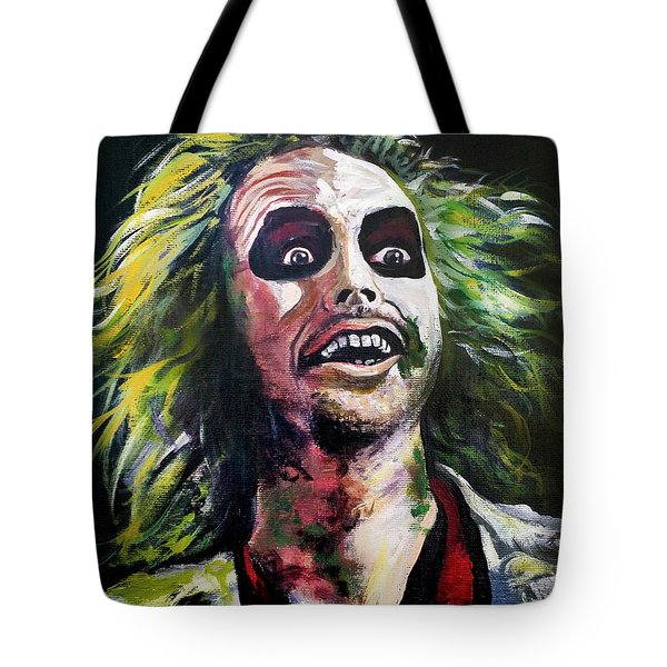 Beetlejuice Tote Bag by Tom Carlton