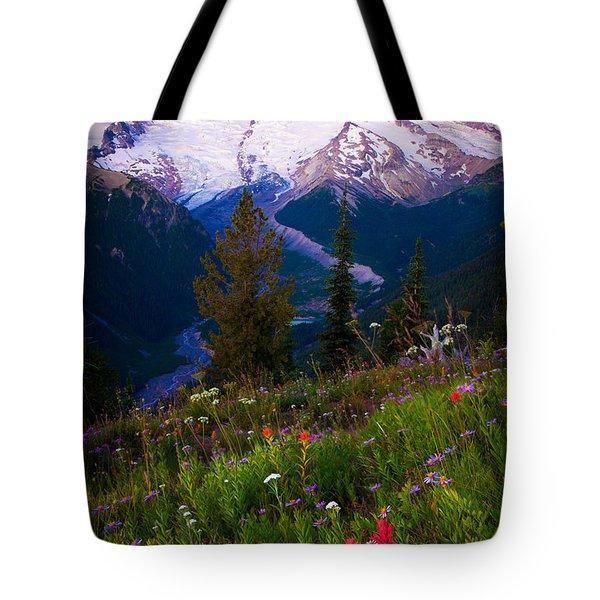 Before Dawn At Mount Rainier Tote Bag