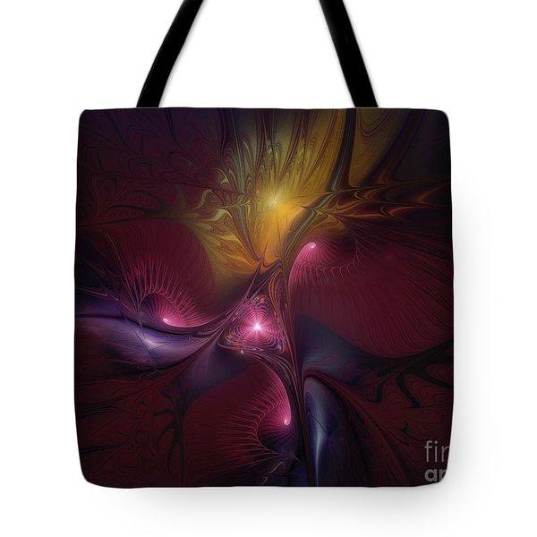 Before Dawn-fractal Art Tote Bag