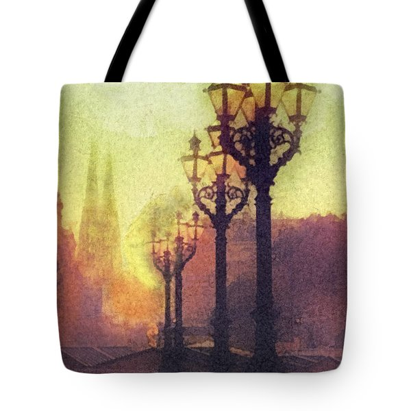 Before Sunrise Tote Bag by Mo T