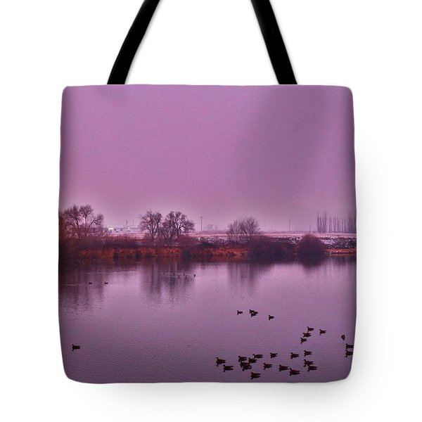 Tote Bag featuring the photograph Before Sunrise On The Bridge by Lynn Hopwood