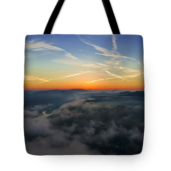 Before Sunrise On The Lilienstein Tote Bag