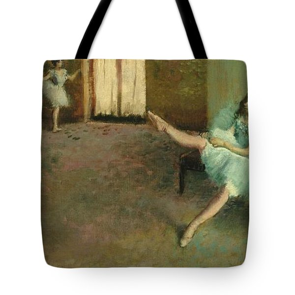 Before The Ballet Tote Bag by Edgar Degas