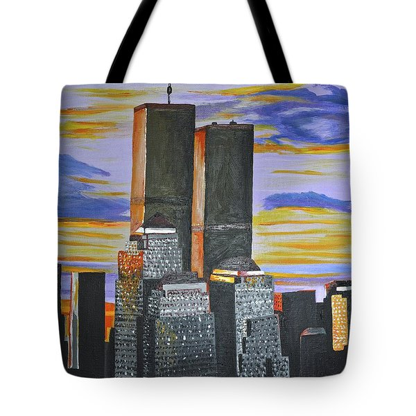 Tote Bag featuring the painting Before The Fall by Donna Blossom