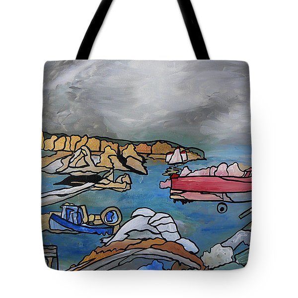 Tote Bag featuring the painting Before The Storm by Barbara St Jean