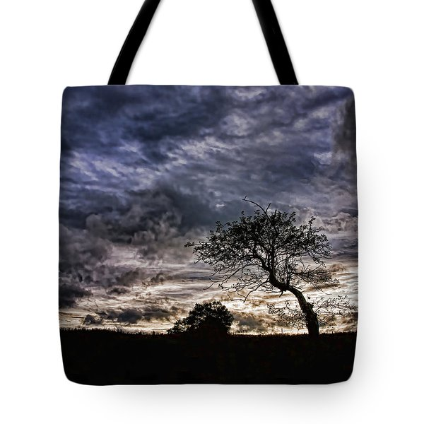 Nova Scotia's Lonely Tree Before The Storm  Tote Bag