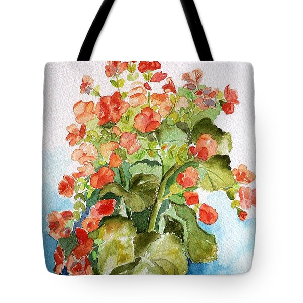Tote Bag featuring the painting Begonias Still Life by Geeta Biswas