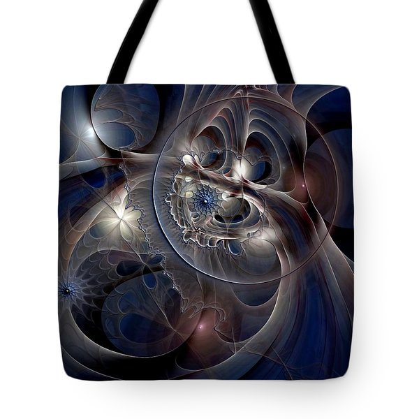 Tote Bag featuring the digital art Beguiled At Twilight by Casey Kotas