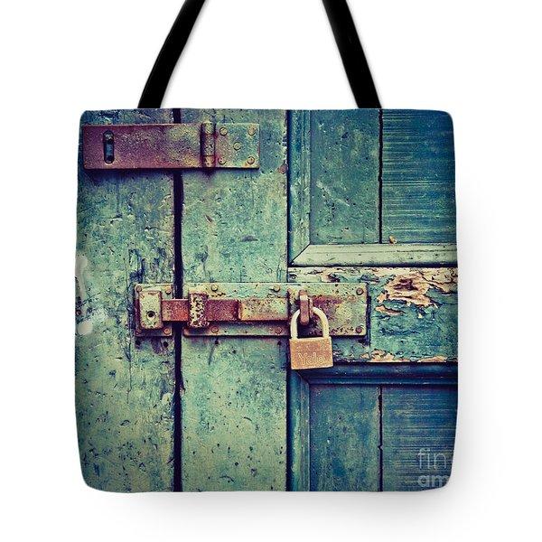 Behind The Blue Door Tote Bag