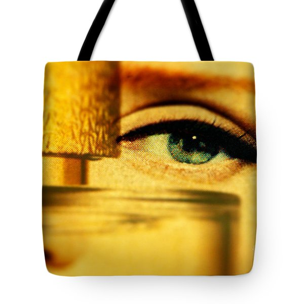 Behind The Bottle Tote Bag
