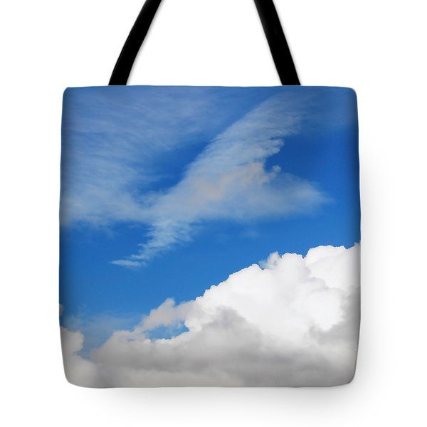Behind The Clouds Tote Bag