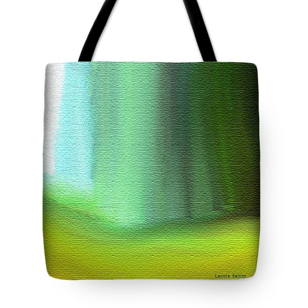 Behind The Curtain Tote Bag by Lenore Senior