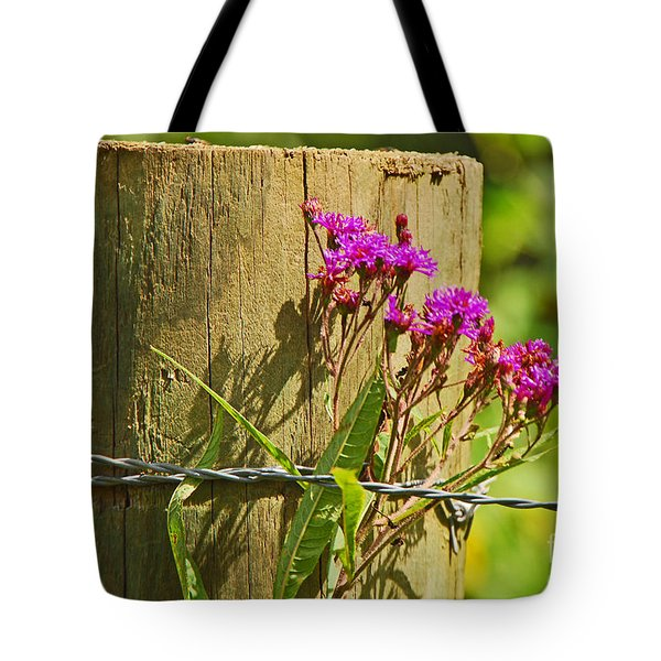 Behind The Fence Tote Bag by Mary Carol Story