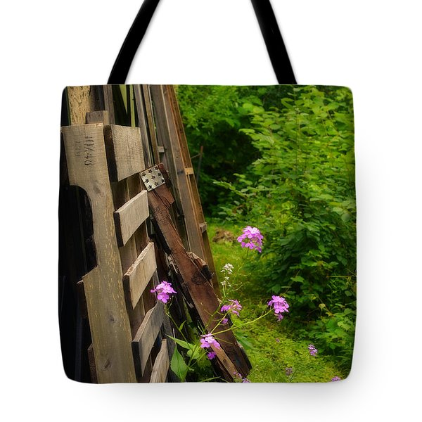 Behind The Old Shed Tote Bag by Mary Machare