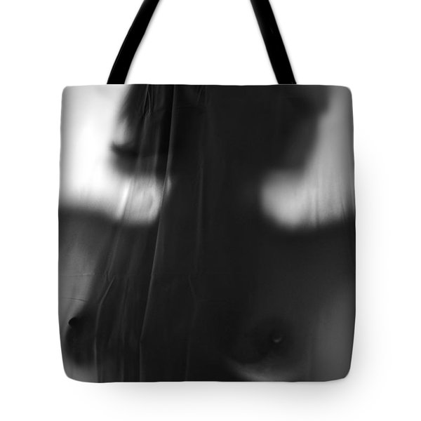 Behind The Shower Curtain Tote Bag by Alkstudio SP