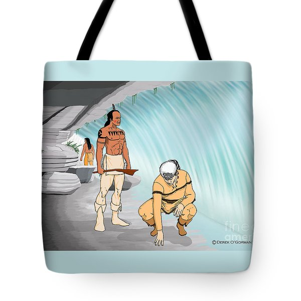 Behind The Waterfall Tote Bag