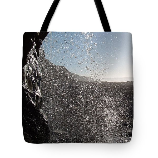 Behind The Waterfall Tote Bag by Richard Brookes