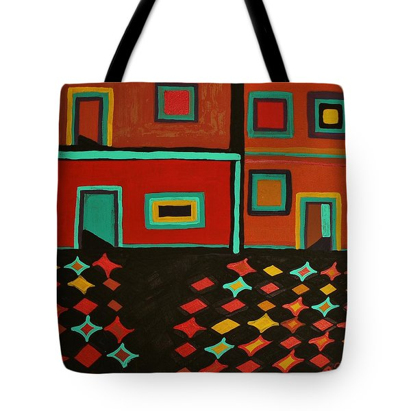 Tote Bag featuring the painting Behind Which Door by Barbara St Jean
