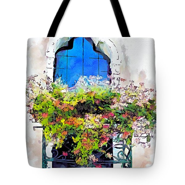Tote Bag featuring the painting Bei Fiori by Greg Collins