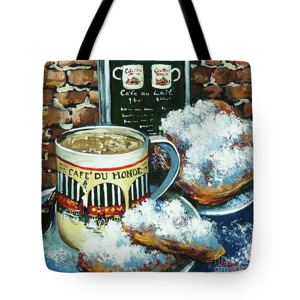 Beignets And Cafe Au Lait Tote Bag