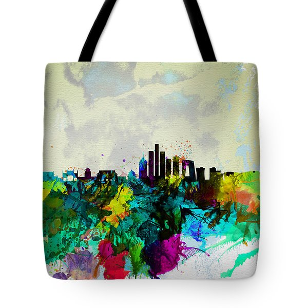 Beijing Watercolor Skyline Tote Bag