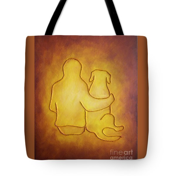 Being There 2 - Dog And Friend Tote Bag
