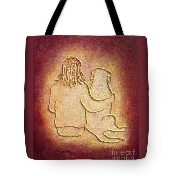 Being There 3 - Dog And Friend Tote Bag