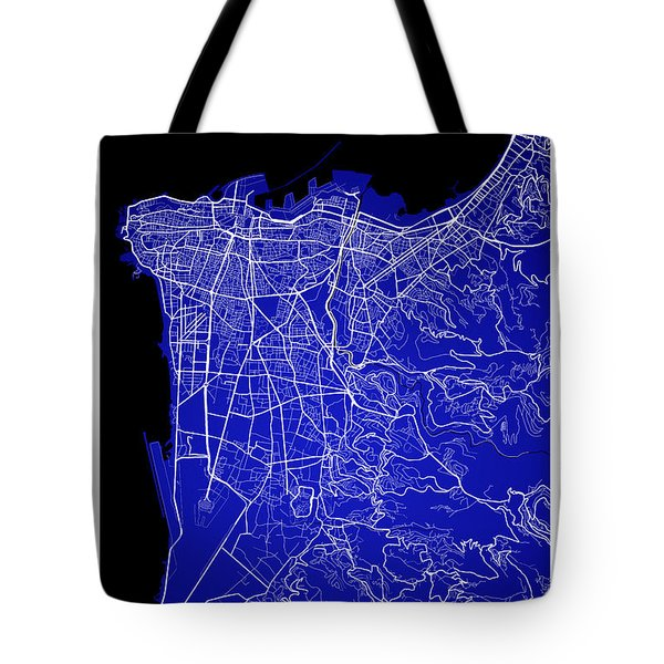Beirut City Street Map - Beirut Lebanon Road Map Art On Color Tote Bag