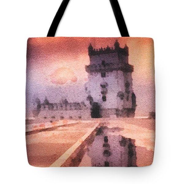 Belem Tower Tote Bag by Mo T