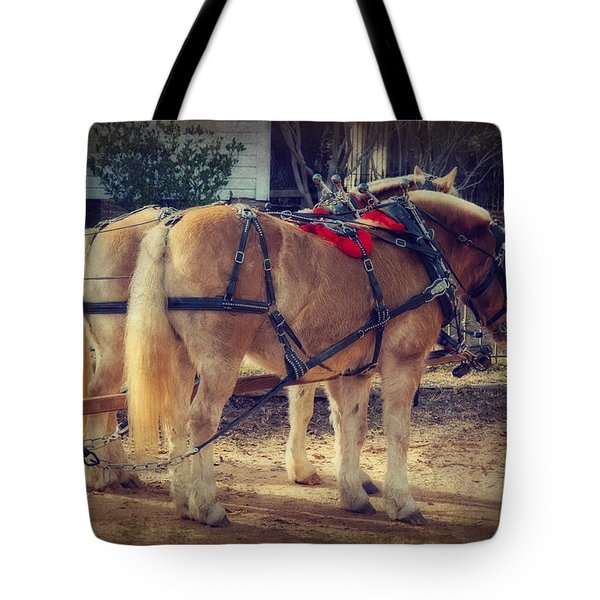 Belgium Draft Horses Tote Bag