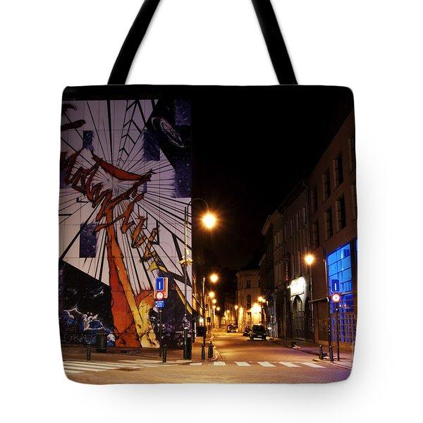 Belgium Street Art Tote Bag by Juli Scalzi