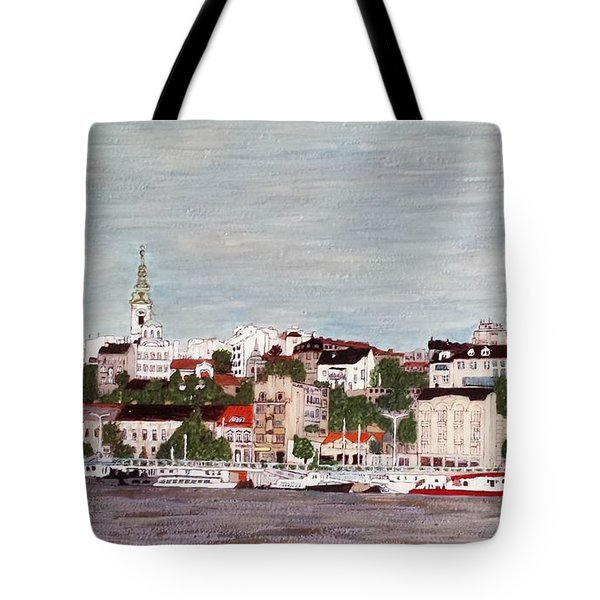 Belgrade Serbia Tote Bag by Jasna Gopic