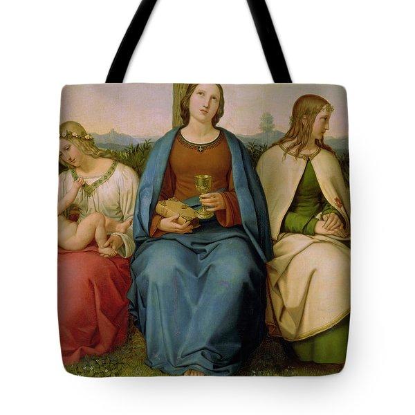 Belief Hope And Love Tote Bag