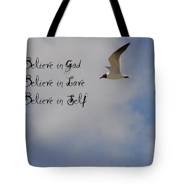 Believe In Tote Bag by Bill Cannon
