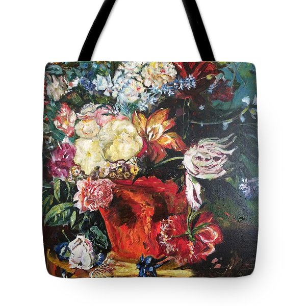 Life Is A Bouquet Of Flowers  Tote Bag by Belinda Low
