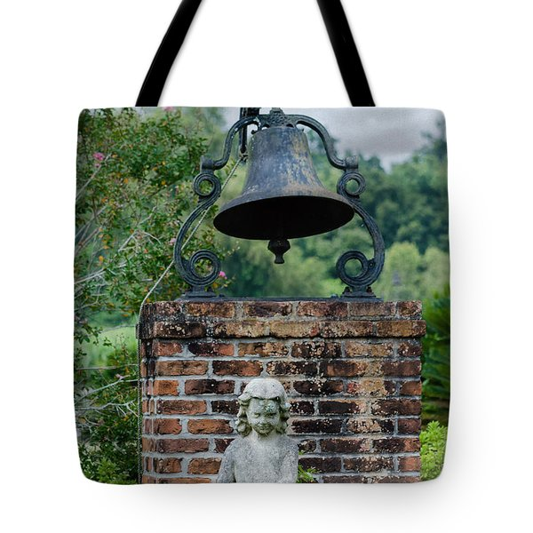 Bell Brick And Statue Tote Bag