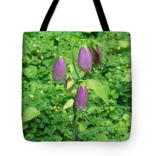 Bell Flower In A Bed Of Green Tote Bag