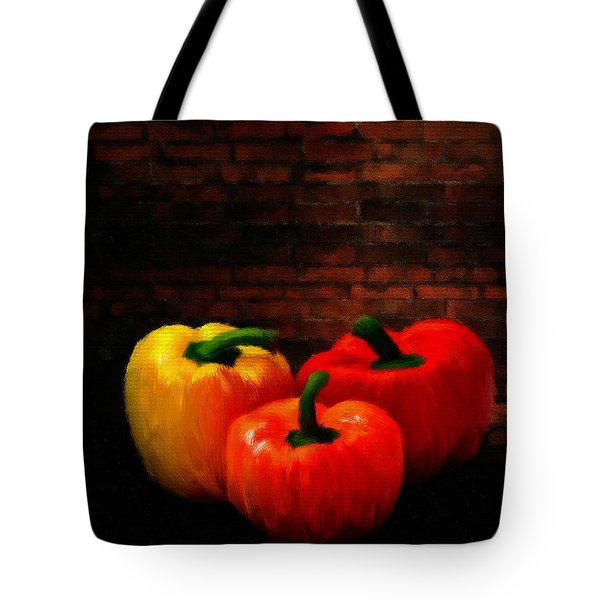 Bell Peppers Tote Bag by Lourry Legarde