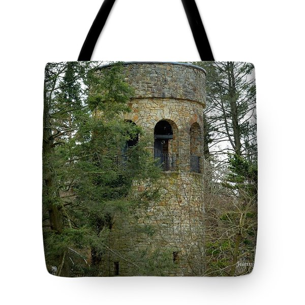 Tote Bag featuring the digital art Bell Tower by Jeannie Rhode