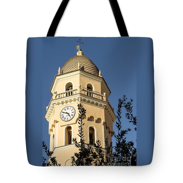 Bell Tower Of Vernazza Tote Bag