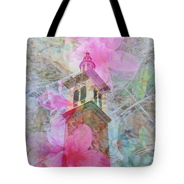 Bell Tower Wrapped In Spring Tote Bag