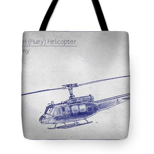 Bell Uh-1h Huey Helicopter  Tote Bag